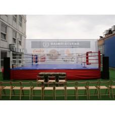 Боксерский ринг ПРОФЕССИОНАЛЬНЫЙ помост 7,5х7,5х1м канаты 6,1х6,1м.