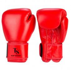 Перчатки боксерские TOP SPORT (кожа)